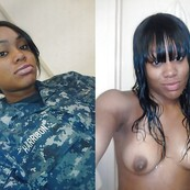 MILITARY DRESSED UNDRESSED