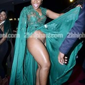 zodwa wabantu flaunts her pussy at party