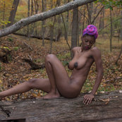 Black Girl Naked in the Woods