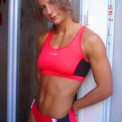 Muscular beauty BDSM