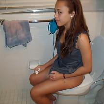 Blowjob bathroom throw up