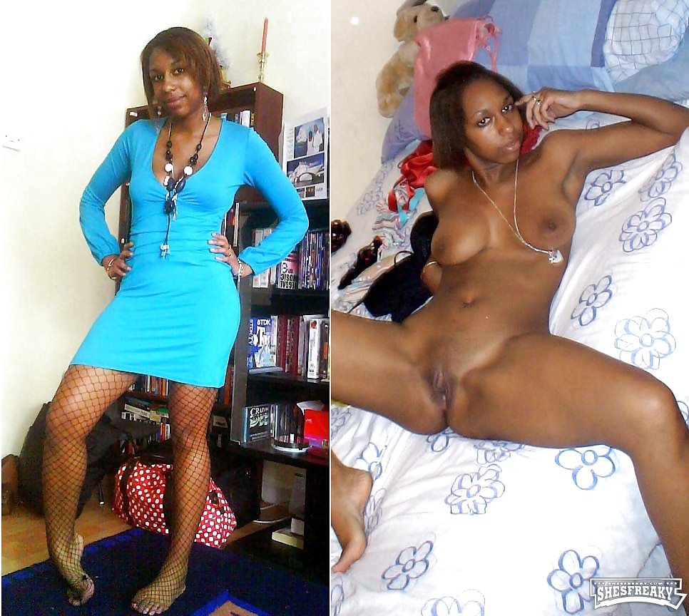 undressed dressed Black girl