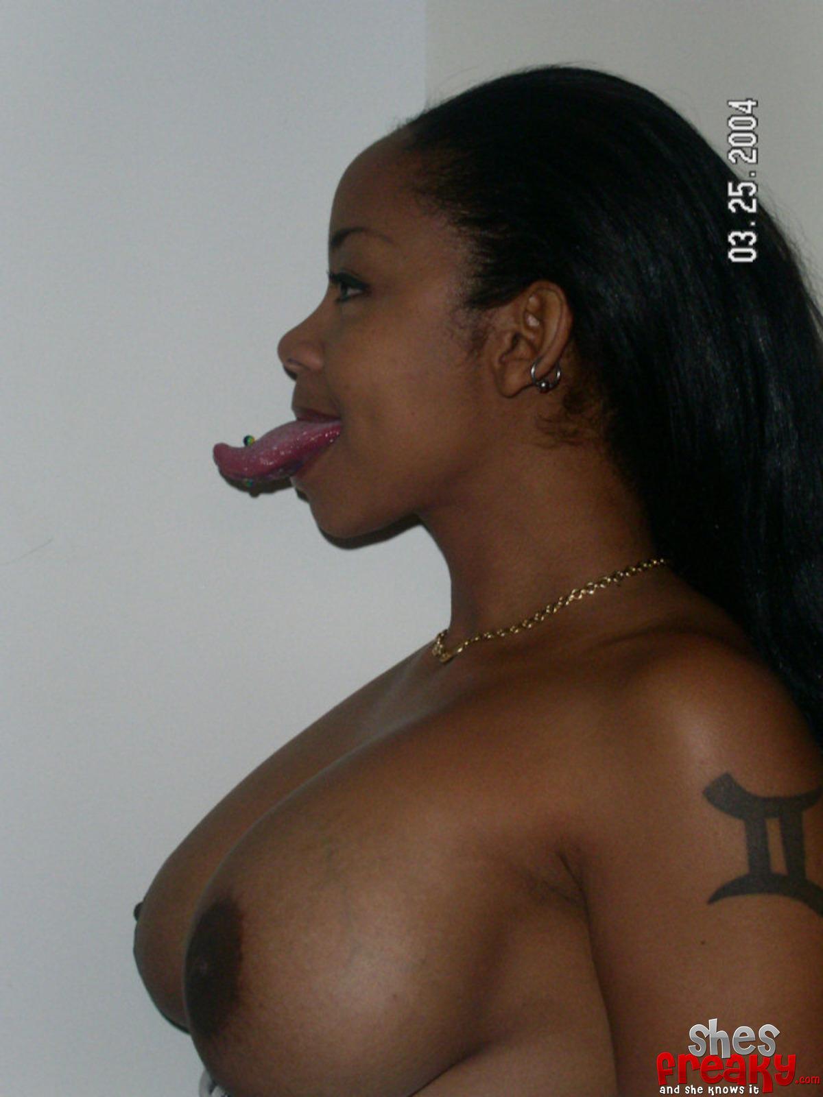 Long tongue black porn