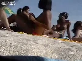 Hot Black Girls at a Nude beach