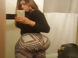 Black Chick With A Big ASS Clapping With Pants On