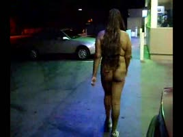 Naked Gas Station Dare