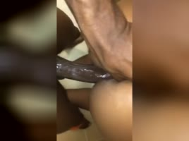 Creamy pussy getting fucked slow motion