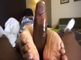 Black girl foot job