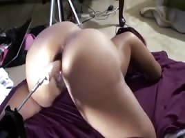 Fuck Machine makes her cream