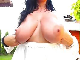 Big Tits Just Chillin Outside