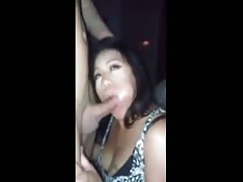 Asian girl giving head