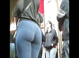 Hot Latina in yoga Pants