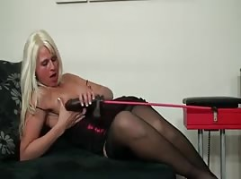 Jessica's BBC fuck machine makes her cum
