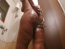 Big Ass Indian Thot in the shower