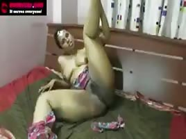 Indian  babe left alone to play.