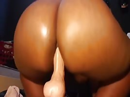 Taking Dildo In The Ass