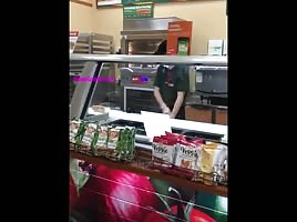 Ghetto girl ass clap in subway