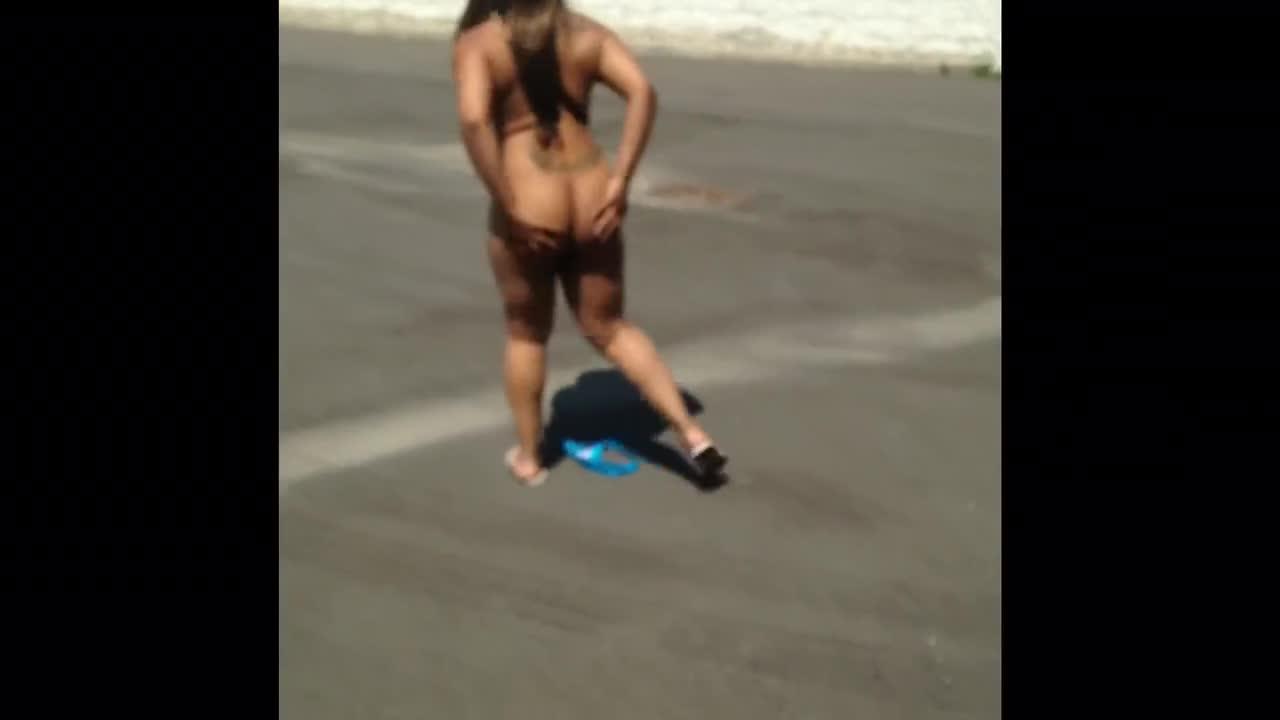 black girl strips naked in public 2 - shesfreaky