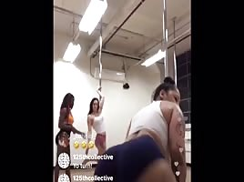 Twerking stripper hoe