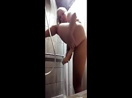 BakedBunnyy - My first video, being naughty in a gym shower