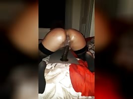 Sexy Chick Riding Her Dildo