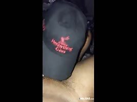 Big buttocks swallowing a cock before fucking