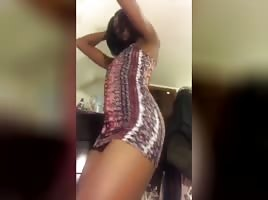 Thot showing wet pussy up dress