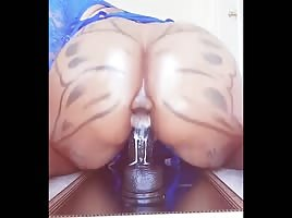 Anally Swallowing Dildo