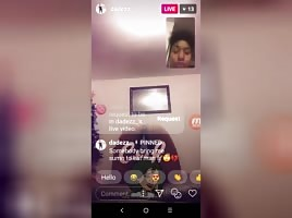 Ebony teen twerk on Instagram live