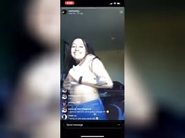Latina Thotty Nipslip on IG LIVE