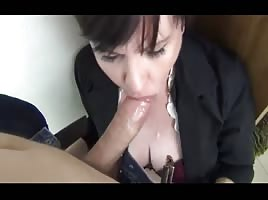MILF Deep Throating WC Cream Pie