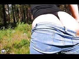 Phat A$$ PAWG Doggystyle Outside in Nature