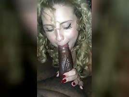 Pretty Blonde White Hoe Sucks Black Dick