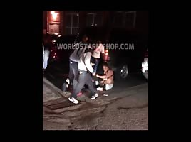 Hood fight with big black titties