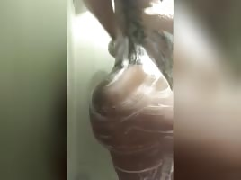 J Angie Shower Thick Ass