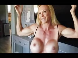 Muscle Blonde Milf