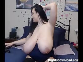 Brunette with the biggest tits
