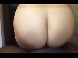 Sexy big ass riding black dick