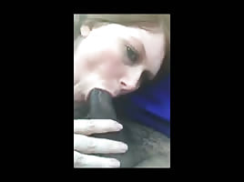 Sucking black dick in the car