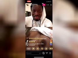 Crackhead titties gets flamed on instagram live