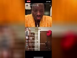 Michael Blackson insta live with ItsBlasia