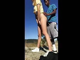 She asked a stranger to fuck her outdoors on video