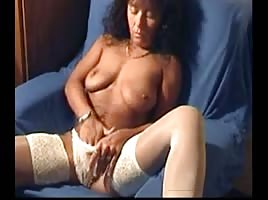 Mature girl videos herself masturbating to orgasm
