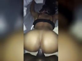 Big Ass Ebony thot turned wifey after this back shot