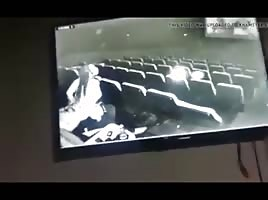 Caught on cinema security cam pt.1