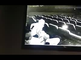 Caught on cinema security cam pt.2