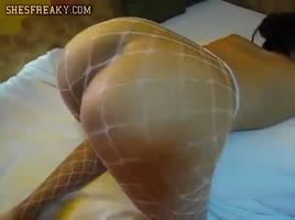 PAWG in Fishnets